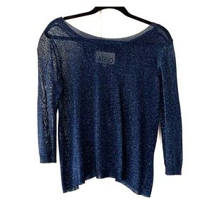 Aiko blue shimmer top